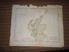 Rare Antique Map of Scotland (Isles Britanniques) Early 19th century
