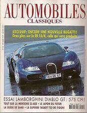 AUTOMOBILES CLASSIQUES 103 BUGATTI EB 18/4 LAMBORGHINI DIABLO GT TALBOT LAGO T23