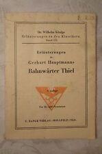 Erläuterungen zu Gerhart Hauptmanns Bahnwärter Thiel, Ipke Nommensen, 40 Seiten