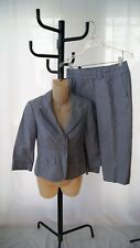 ANN TAYLOR BLUE Cropped pant jacket suit sIZE 00P AND 0P (SU100)