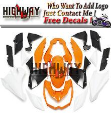 Injection For Kawasaki Z1000 10-13 ABS Fairings Kit Bodywork Orange White Black