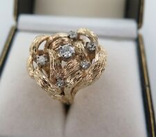 .UNUSUAL 14CT YELLOW GOLD & DIAMOND RING, DIAMOND WEIGHT .57CTS. VALUATION $3640