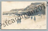 Bathing Ladies LA JOLLA California RPPC Cove—Antique LEOPOLD HUGO Photo 1910s