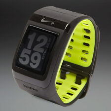 Nike+ SportWatch GPS powered by TomTom Black Volt watch free foot sensor C Grade