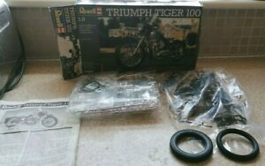 Revell Triumph Tiger 100 motorcycle plastic model kit in 1/8 scale ( rare)