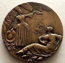 French Transatlantic Liner bronze medal ANTILLES signed R.DELAMARRE 55 mm / N141