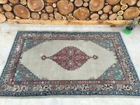 3'5''x5'4'' Antique Rug Carpet,Vintage Turkish Rug,Oushak Rug,Ushak Carpet Rug