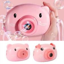 AU Kids Baby Bubble Machine Tub Pig Automatic Shower Machine Blower Bubble Toys