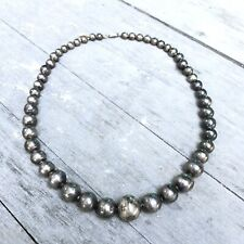 Vintage Taxco Graduated Sterling Silver 925 Spherical Statement Necklace 23 Long