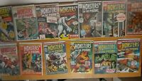 Monsters on the Prowl Vintage Bronze Age Marvel Comic Lot 13!