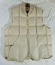 Vintage Eddie Bauer Quilted Down Vest Men's Size S Tan Brown Tags Removed