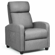 Costway HW64114 Massage Recliner Chair with Footrest - Gray