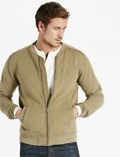 NWT Lucky Brand Grey Label French Terry Bomber Jacket Medium. Ivy Green MSRP $99