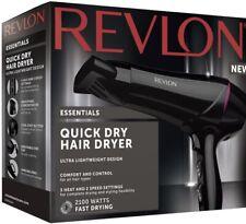 Revlon Quick Dry Hair Dryer Ultra Lightweight Design 2100 Watts 3 Heat Setting