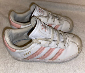 Girls Infant Size 7 - Adidas Gazelles Trainers