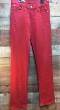 NWT Genuine Red Engine Ruby Slimming Narrow Boot Red Stretch size 30 Jeans Women