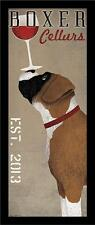 FRAMED Boxer Cellars Vintage Ads Dogs Wine Print Poster 8x20 by Ryan Fowler