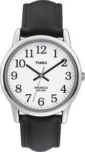 Timex Mens Watch T20501, Leather strap, Indiglo Night Light