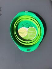 2/Set Faltbar Silikon Küchensieb Abtropfsieb Nudelsieb Gemüse Salat Seiher Obst