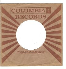 45RPM, RECORD SLEEVE ONLY ' COLUMBIA LABEL ' VG+