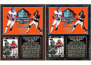 John Elway #7 Denver Broncos Career Photo Card Plaque