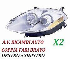 COPPIA FARI FANALE PROIETTORE ANTERIORE SX-DX FIAT BRAVO DAL 2007 AL 2011 H1-H1