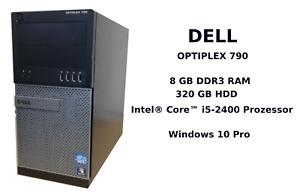 PC DELL OPTIPLEX 790 Tower Intel® Core™ i5-2400 320GB HDD 8GB RAM Win10 Pro