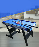 D11 Blue Kids Toy Home Foldable Billiard Ball Snooker Pool Table Game 76CM