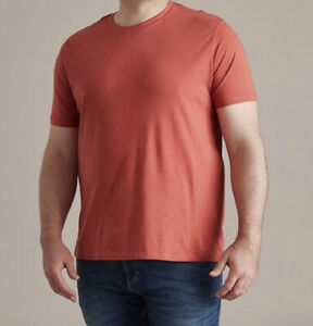 Mens plus size 5XL Mr Big Mineral Red  SUPIMA Cotton Tee t-shirt NEW