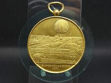 Vergoldete Medaille Frankreich Paris 1878 FESSELBALLON Henry GIFFARD (2416)