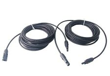 2x 10 METERS solaire DC Cable (Black, 4 mmâ²) & mc4 Type Connectors-Free Delivery