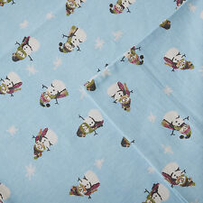 Woolrich 100% Cotton Snowman Flannel Print Deep Pocket Sheet Set ~Twin~Free Ship