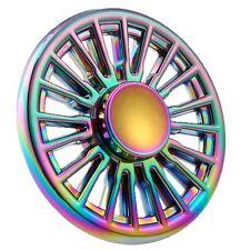 Rainbow Wheel Sun Flower Spinner Hand Fidget Finger Toy Alloy EDC Gyro For ADHD