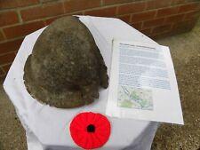 More details for ww1 relic british brodie helmet found between mametz & bazentin le petit wood