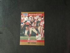 1990 PRO SET JOE MONTANA # 8 SF 49ERS