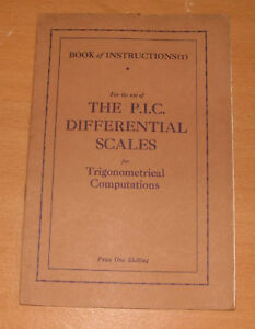 Book Of Instructions - P.I.C Differential Scales