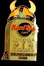 HRC hard rock cafe stockholm Halloween 1998 tombstone viking tête casquée le750