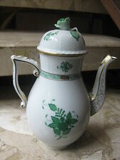 *HEREND* COFFEE - KETTLE / POT in green  Chinese Bouquet/Apponyi --- A V 611