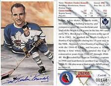 """Ted """"Teeder"""" Kennedy Autographed Legends of Hockey Card"""