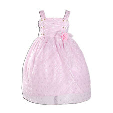 New Girls Floral Party Dress in Pink White Yellow From 9-12 Months to 2-3 Years