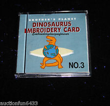 Brother  Embroidery Machine Design Memory card SA-303 Dinosaurs Kids will Love