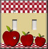 Metal Light Switch Plate Cover - Red Apples Decor Kitchen Decor Apple Decor