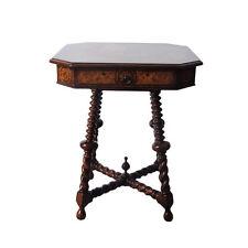 Theodore Alexander Bobbin Leg Inlaid Occasional Side Table
