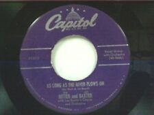 """TEX RITTER / LES BAXTER """"AS LONG AS THE RIVER FLOWS ON / WHEN MY BLUE.."""" 45 MINT"""
