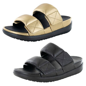 Fitflop Womens Loosh Luxe Double Slide Shoes