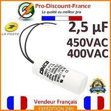 Condensateur Demarrage Moteur CBB60 2.5uF 2.5mF 450VAC 450 Polypropylène 50 60Hz