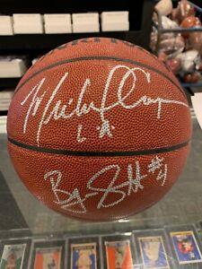 BYRON SCOTT MICHAEL COOPER LOS ANGELES LAKERS SHOWTIME SIGNED BASKETBALL JSA