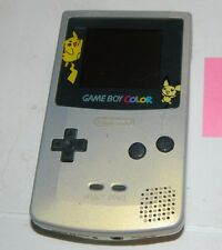 Nintendo Game Boy Color Gold Pokemon Pikachu Handheld System GBC (No Sound)