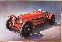 (PRL) 1991 ALFA ROMEO MONZA 2600 AUTO EPOCA VINTAGE AFFICHE PRINT ART POSTER