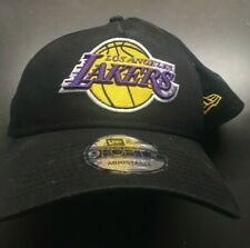 NBA Men's Los Angeles Lakers 9Forty New Era Snapback Hat Black Cap